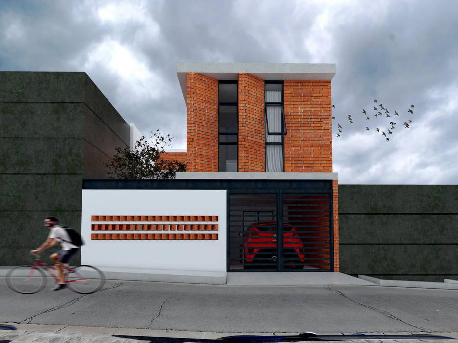 Vintark arquitectura Modern Houses Bricks Multicolored