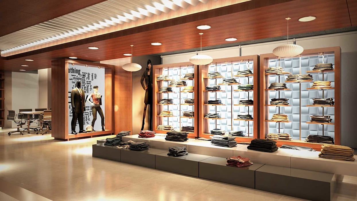 Showroom interior design shopping centres by axis group of interior design