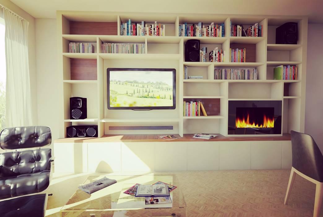 mobilier sur mesure: Salon de style de style Moderne par Agence KP