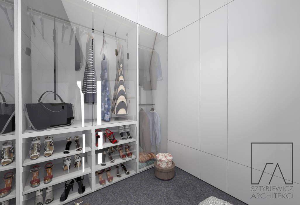 Sypialnia Z Lazienka I Garderoba Styl W Kategorii Garderoba