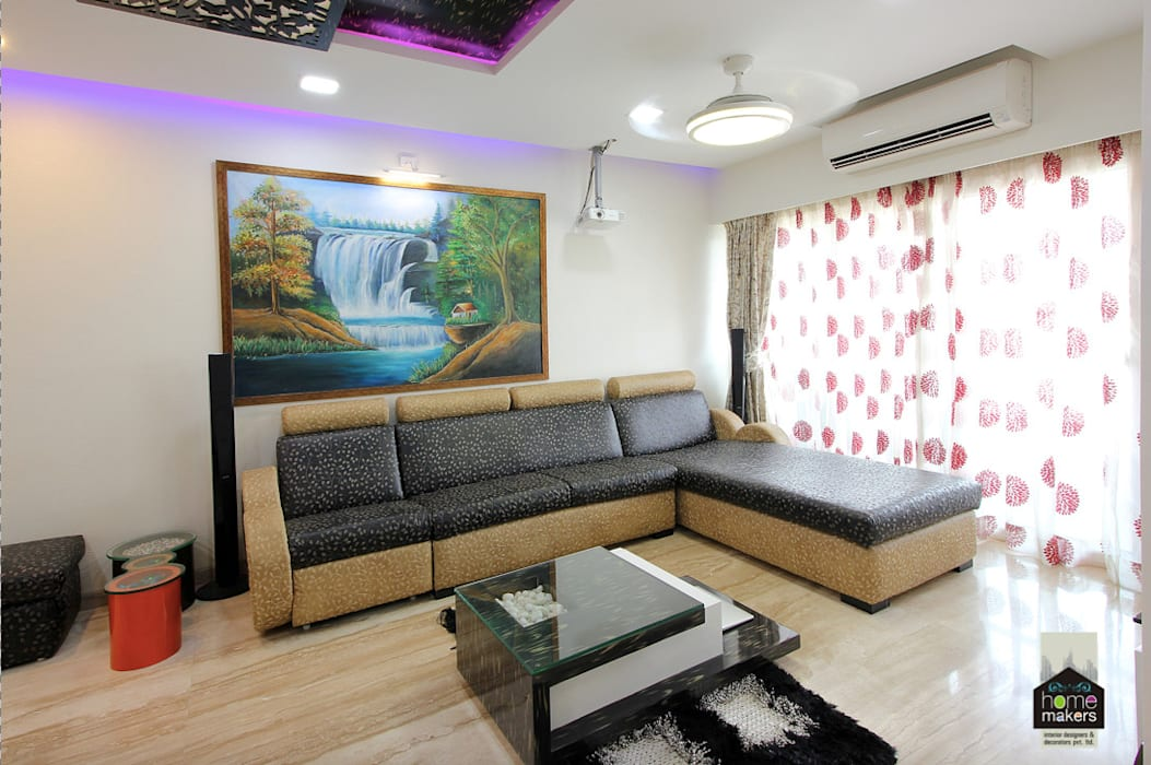 Seating Area: modern Living room by home makers interior designers & decorators pvt. ltd.