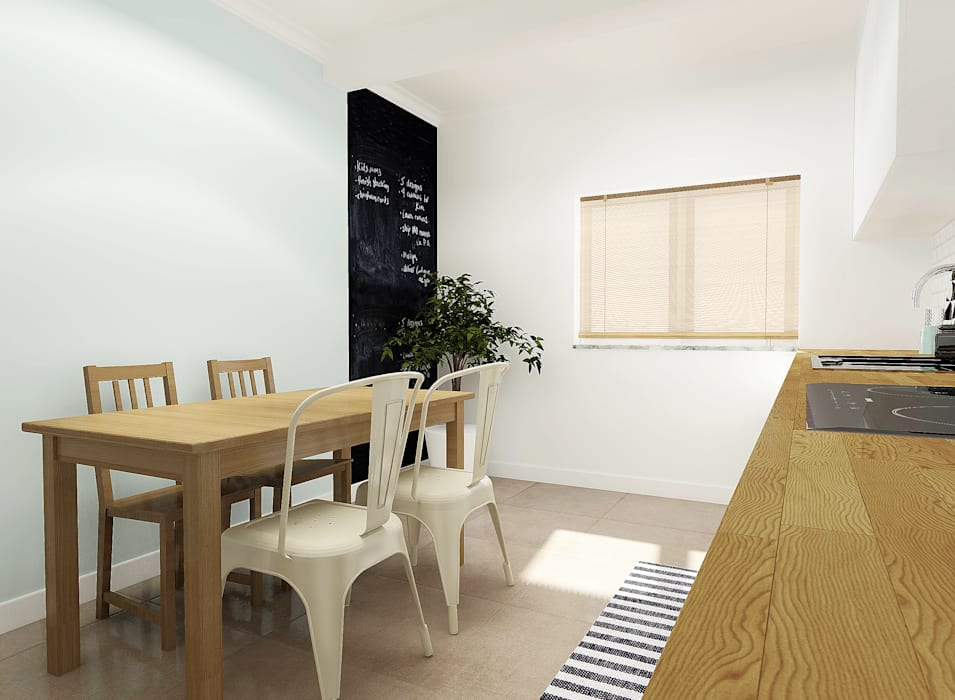 Scandinavian style dining room by homify Scandinavian