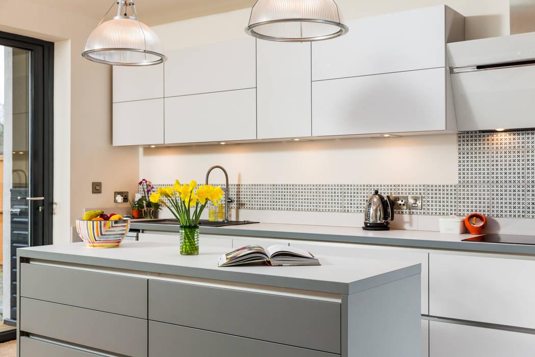 Nobilia 20mm Laser Laminate Door In Satin And Mineral Grey Kitchen