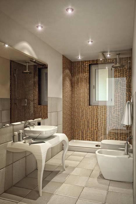 Rendering 3d : Bagni Camere  Hotel : Bagno in stile in stile Moderno di Pasquale De Angelis