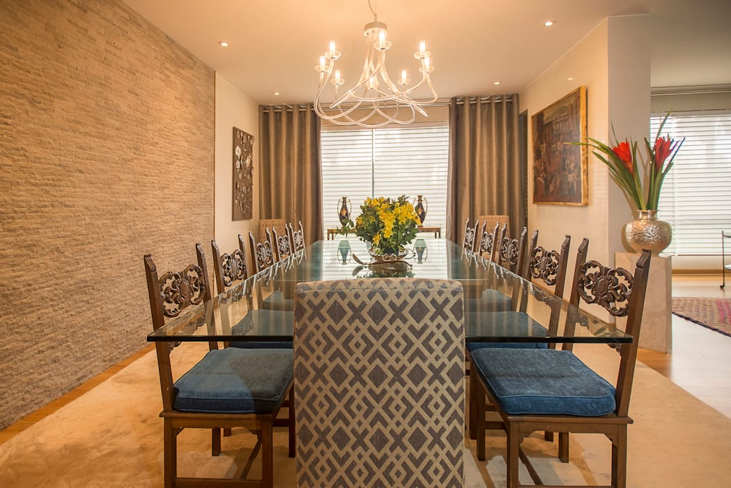 Eclectic style dining room by Duo Arquitectura y Diseño Eclectic