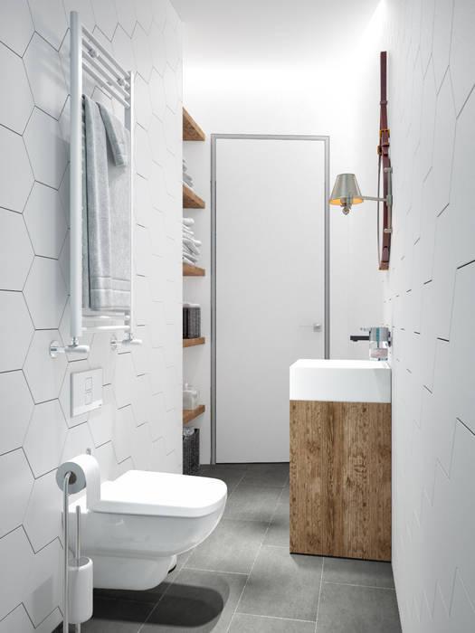 Ванная комната в скандинавском стиле от homify Скандинавский Керамика