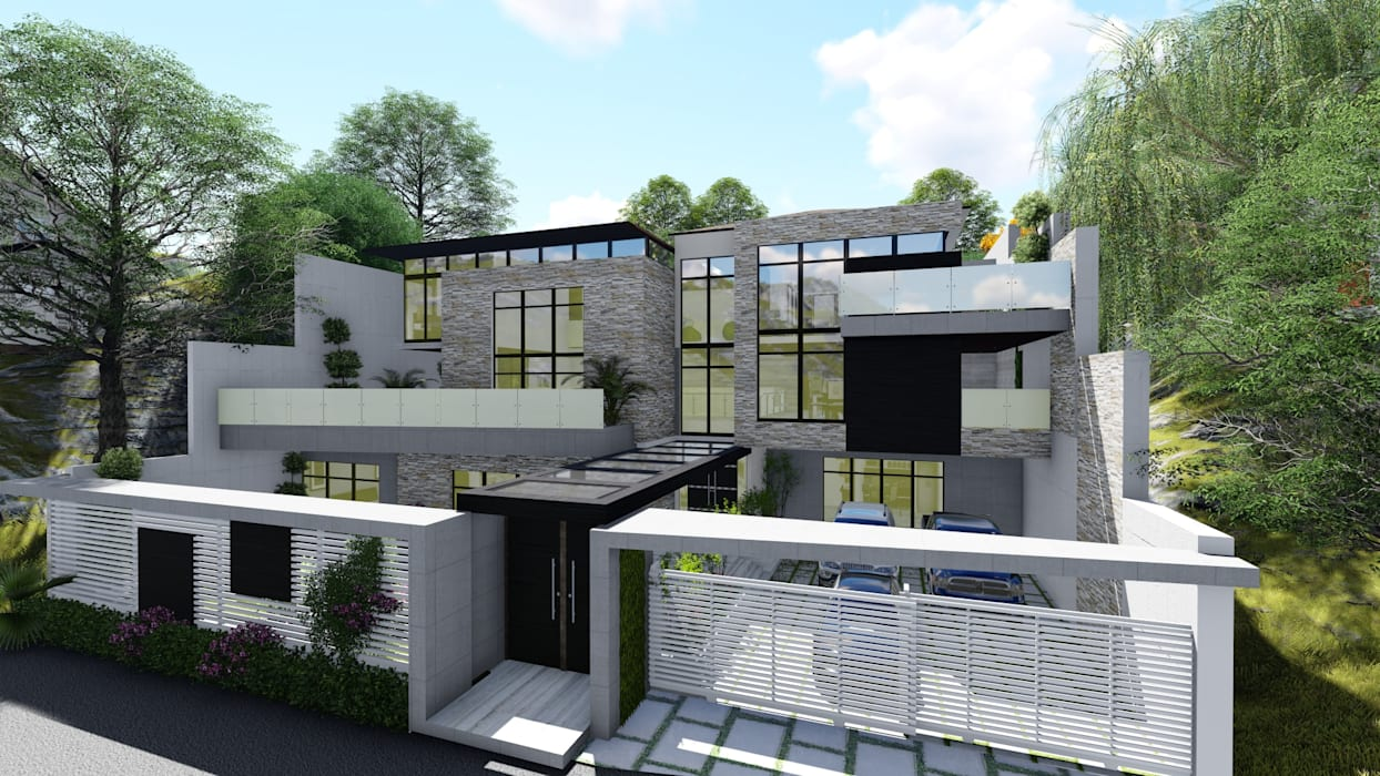 Proyecto Casa Querales Californiana 04: Casas de estilo  por Arquitectura Creativa