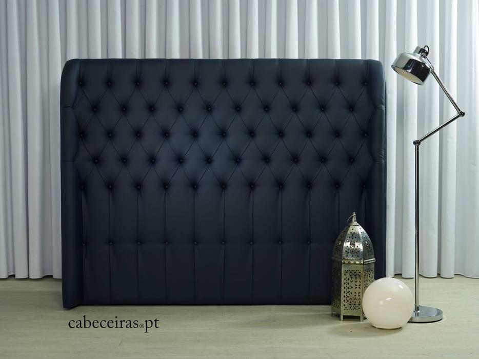Cabeceiras.pt 臥室床與床頭櫃 合成纖維 Blue