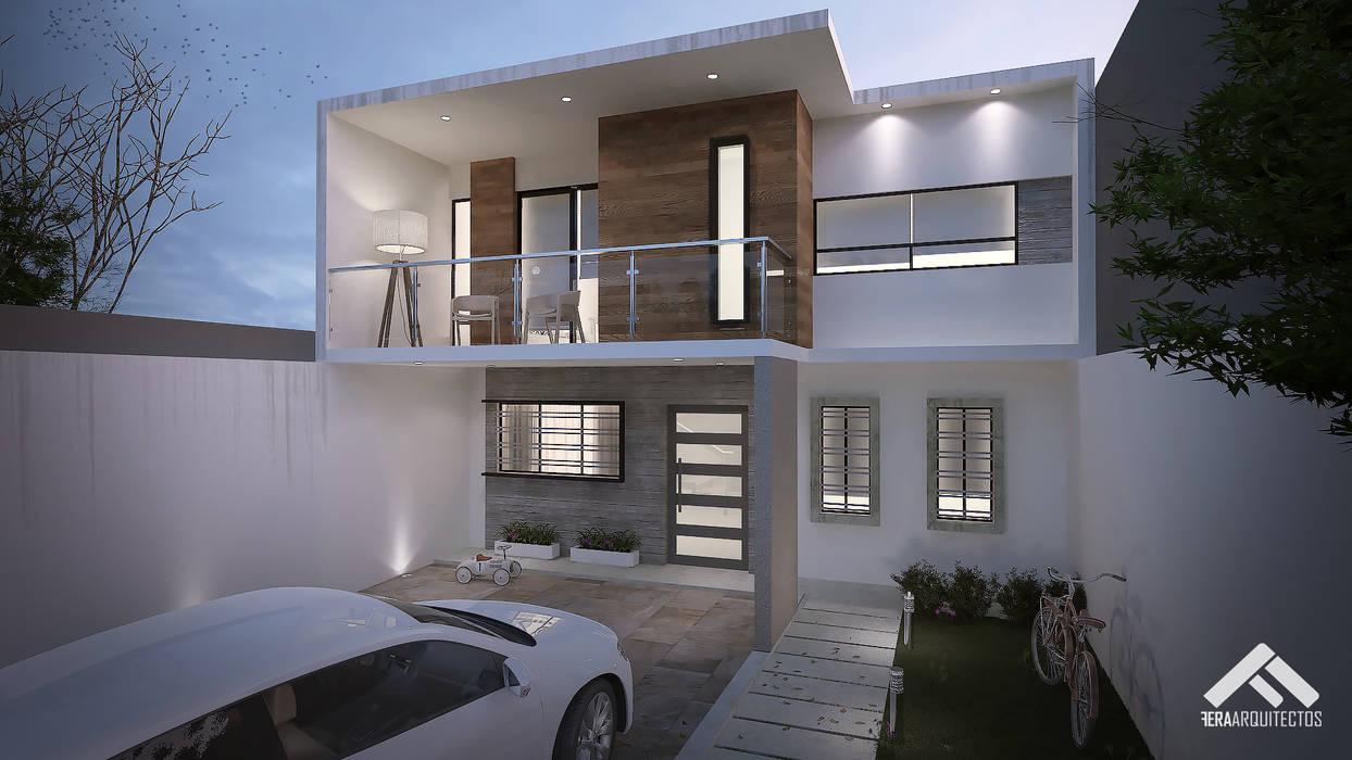 Casas de estilo  por FERAARQUITECTOS,