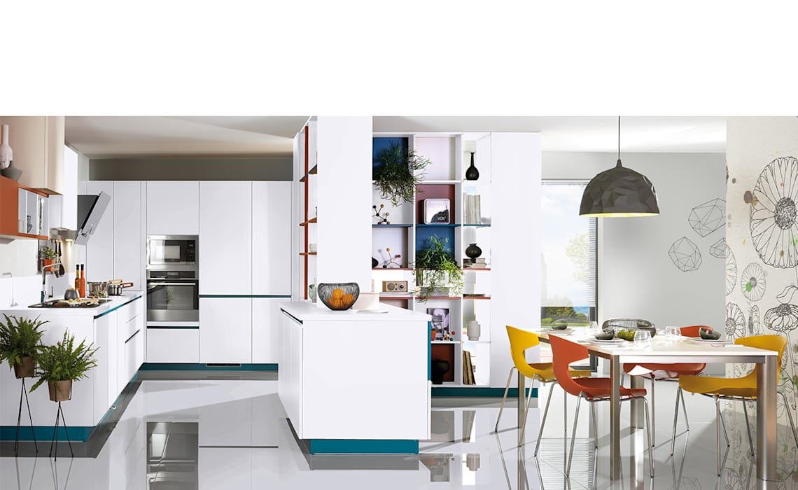 Modern, contemporary Kitchen with Peninsula Cuisine moderne par Schmidt Kitchens Barnet Moderne MDF