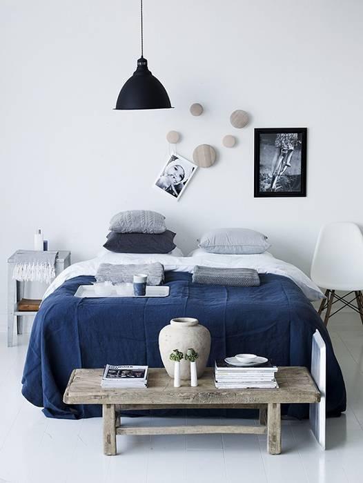 Nel blu dipinto di blu: camera da letto in stile in stile ...