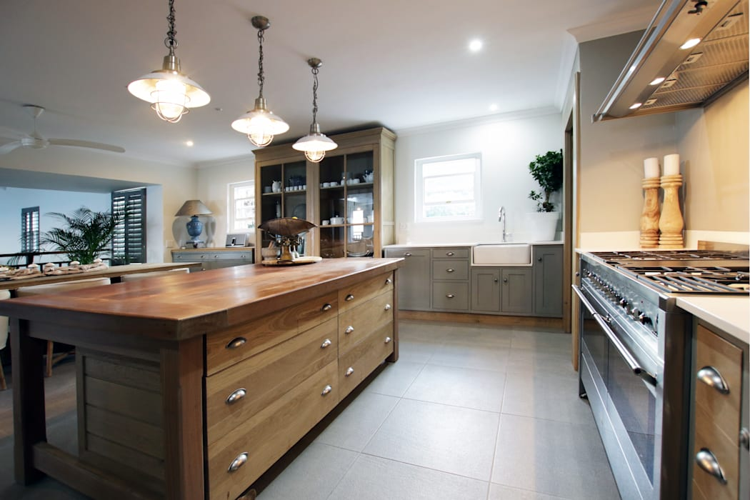 Kitchen JSD Interiors Built-in kitchens Wood Grey