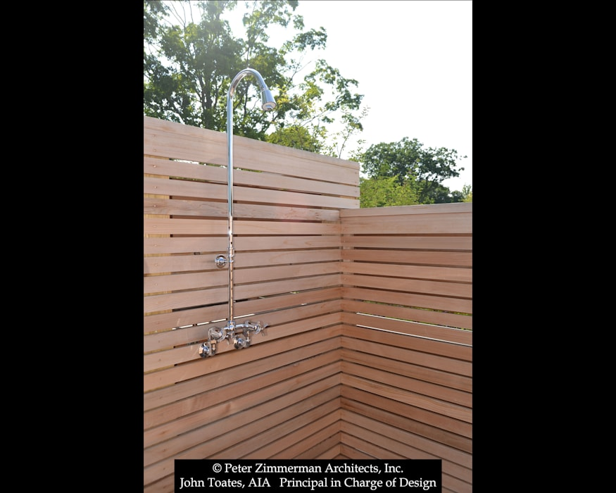 Outdoor Shower John Toates Architecture and Design Pool