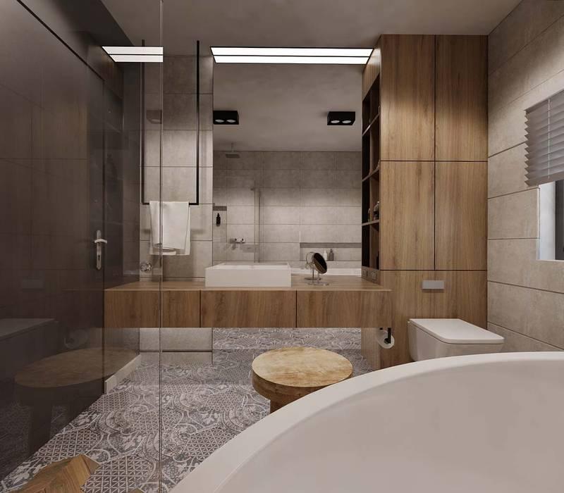 Łazienka charytatywnie Minimalistyczna łazienka od Ale design Grzegorz Grzywacz Minimalistyczny