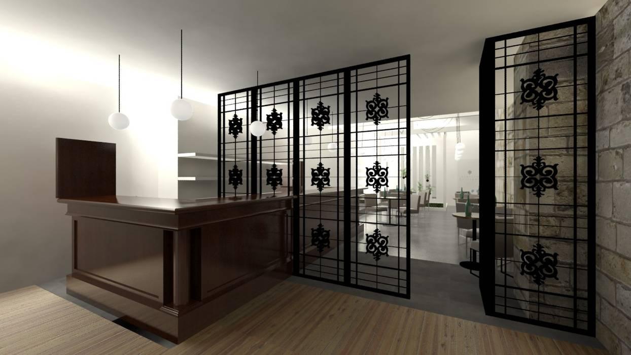 Balcão da Loja e Bar Adegas modernas por A3 Ateliê Academia de Arquitectura Moderno Ferro/Aço