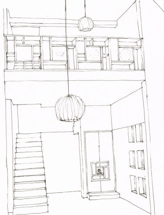 Piso a Piso Corredores, halls e escadas asiáticos por A3 Ateliê Academia de Arquitectura Asiático