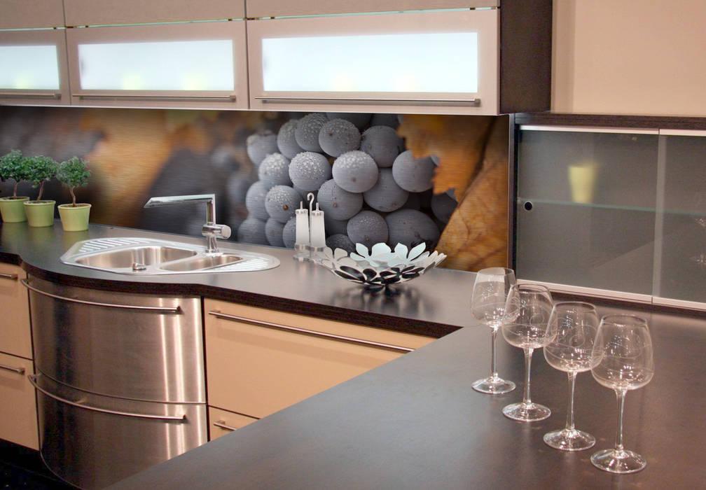 Küchenrückwand – alu-dibond-silber – wein im herbst: küche von k&l ...