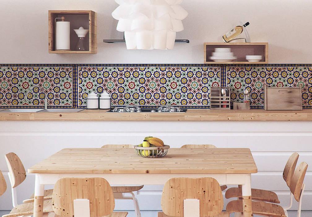 Küchenrückwand – alu-dibond – orientalische kacheln 01: küche von ...