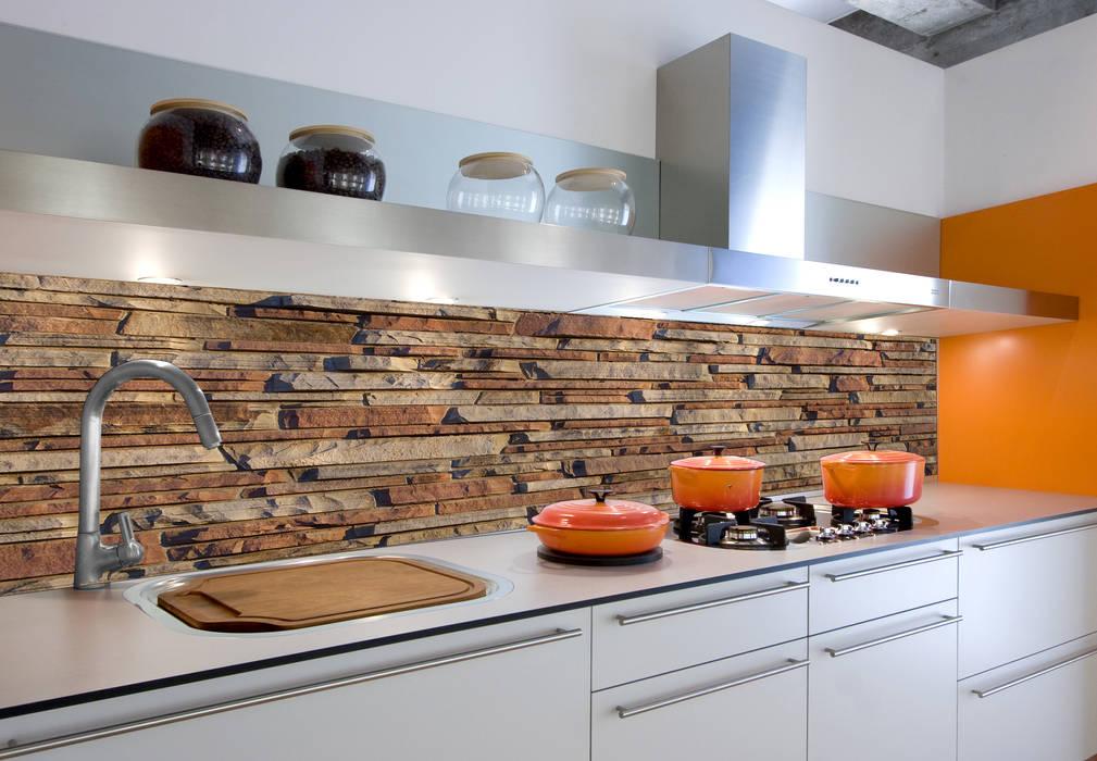 Küchenrückwand – alu-dibond – mauer 05: modern von k&l wall ...