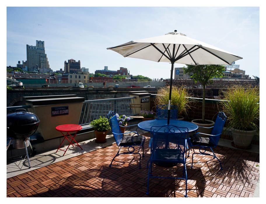 Intervención Bochera en Brooklyn NY. Balcones y terrazas eclécticos de La Bocheria Ecléctico