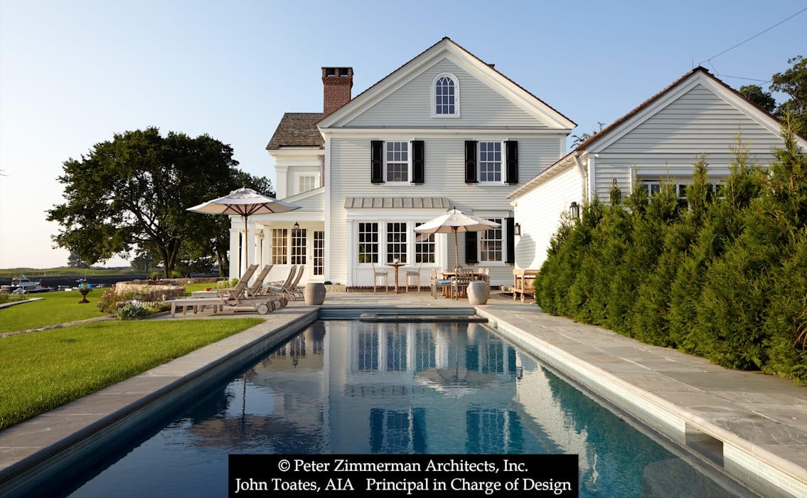 Exterior at Pool by John Toates Architecture and Design Classic