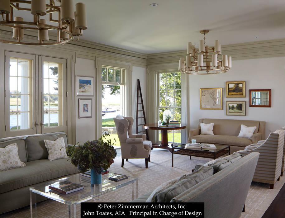Ruang Keluarga Klasik Oleh John Toates Architecture and Design Klasik