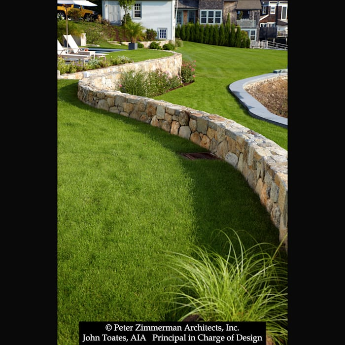 Low Stone Wall Classic style garden by John Toates Architecture and Design Classic