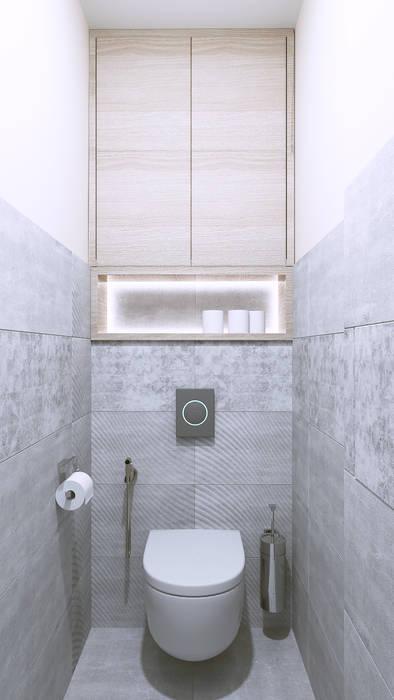 Salle de bain minimaliste par Бюро9 - Екатерина Ялалтынова Minimaliste