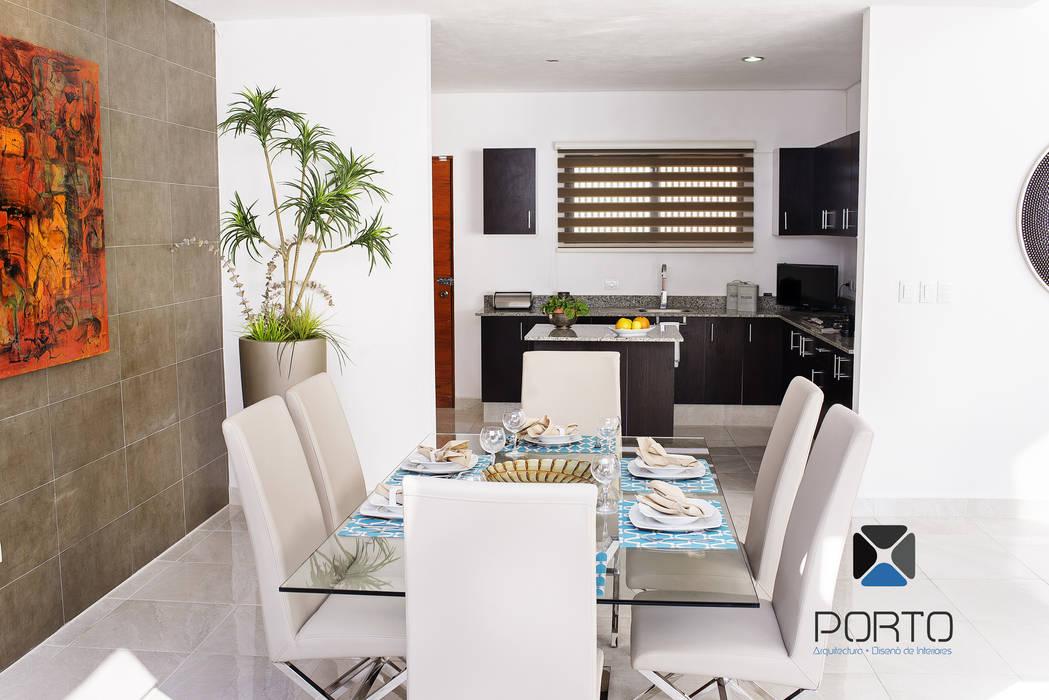 Proyecto nn23 comedores de estilo por porto arquitectura - Proyecto diseno de interiores ...