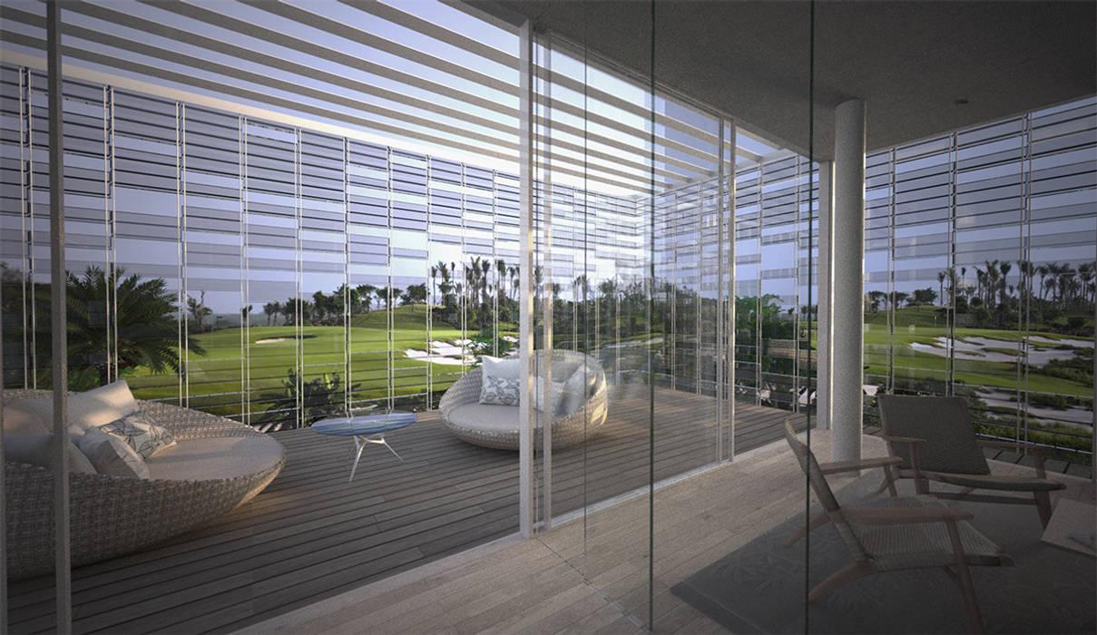 Vista dalla camera da letto: Camera da letto in stile in stile Moderno di effesseprogetti®