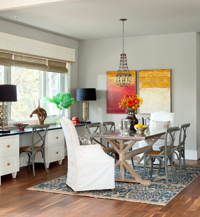 Elegant Modern and Timeless Classic style dining room by Andrea Schumacher Interiors Classic