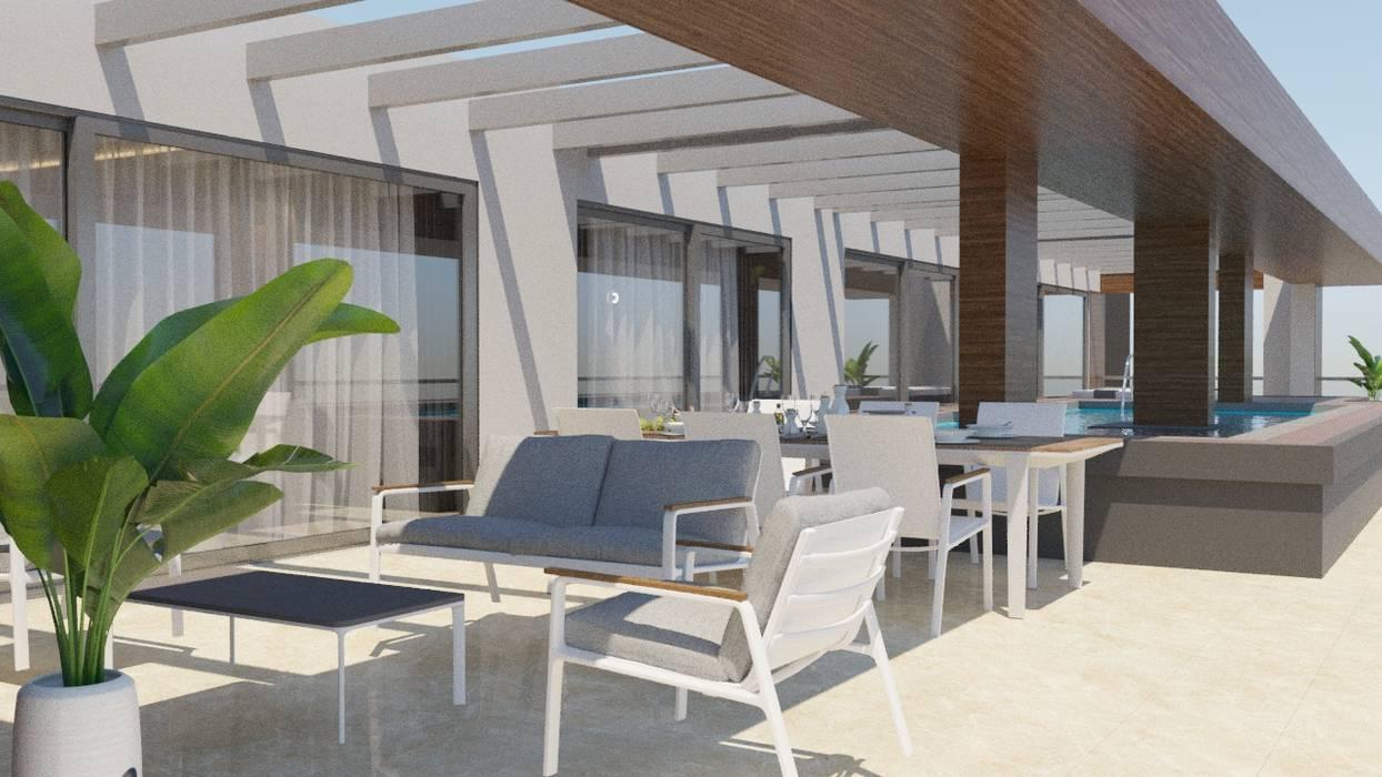 Modern Balkon, Veranda & Teras homify Modern