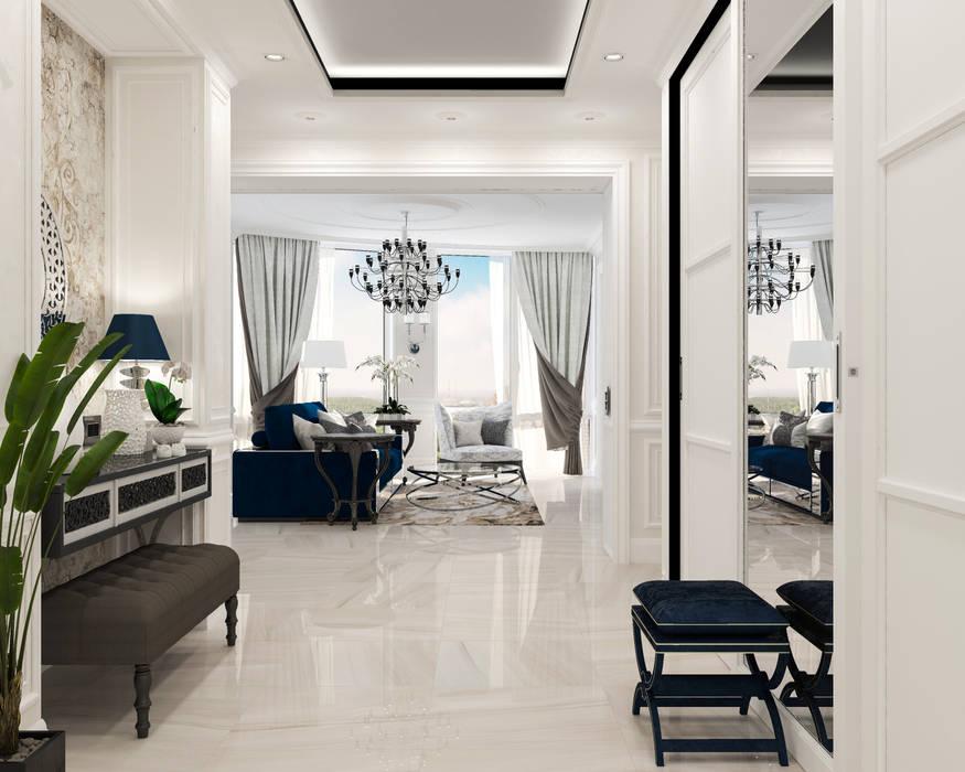 Студия дизайна Дарьи Одарюк Pasillos, vestíbulos y escaleras de estilo clásico Multicolor