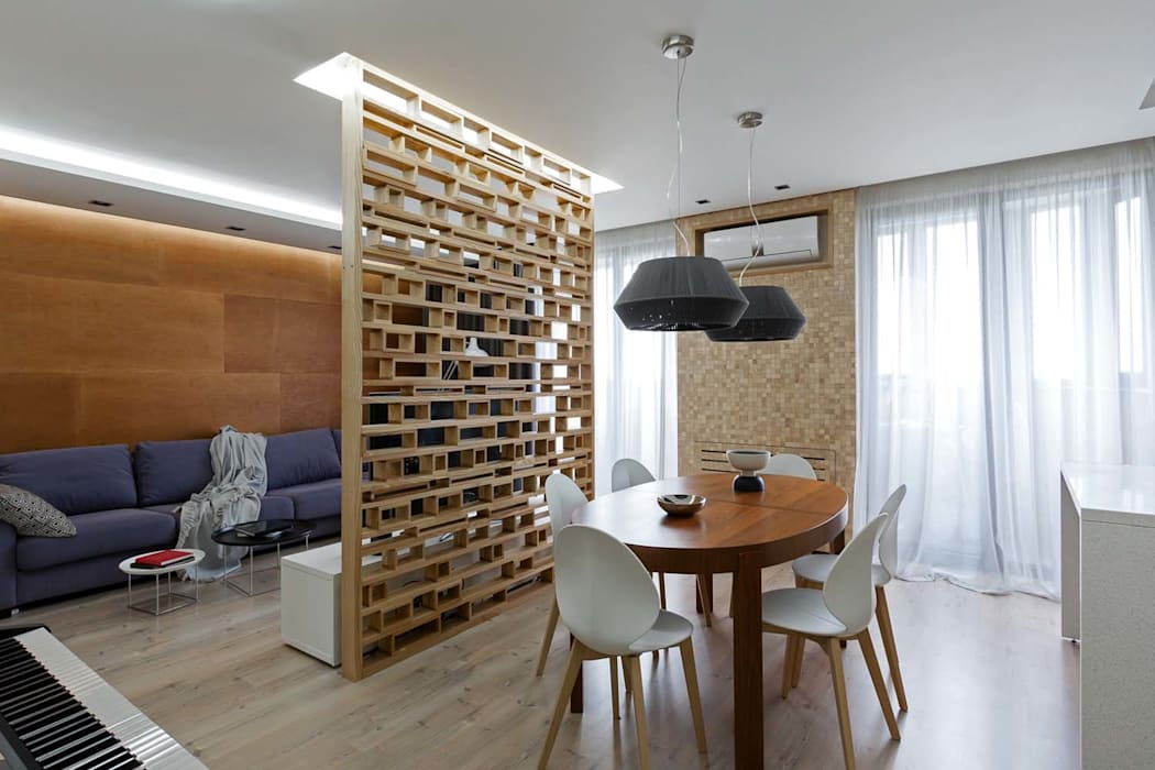 Столовая комната в стиле модерн от EUGENE MESHCHERUK | architecture & interiors Модерн