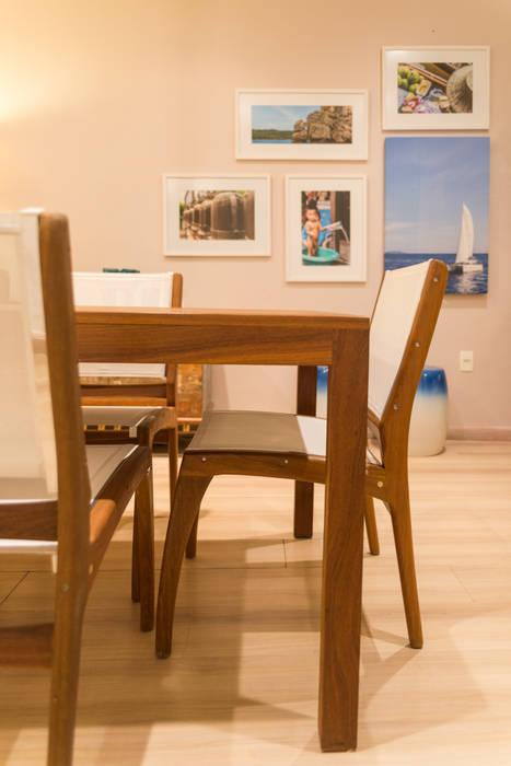 Mostra Mac Trends Duo Arquitetura Salas de jantar tropicais Madeira maciça Bege