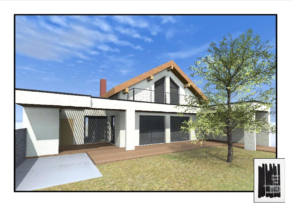 Maison 1950 : Maisons de style de style Moderne par Atelier Genin-Itier
