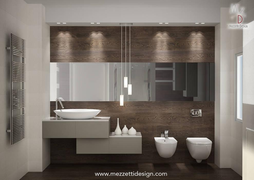 Progetto di un bagno Mezzettidesign Bagno minimalista Ceramica Beige