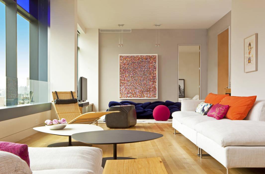 Soho Living Room Lighting :  Living room by Hinson Design Group