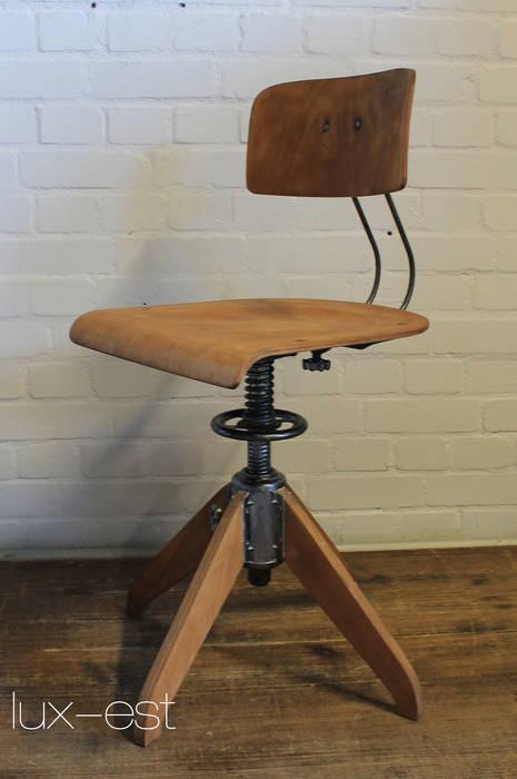 Rowac I Arbeits Dreh Stuhl Industrie Design Vintage Holz