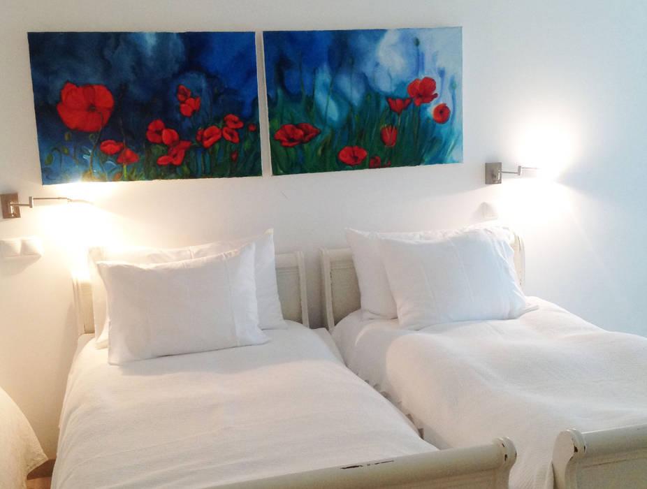 Dormitorios de estilo rústico de alma portuguesa Rústico