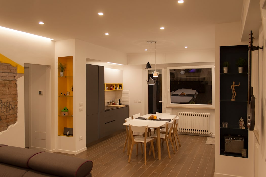 DB house Architettura & Interior Design 'Officina Archetipo' Cucina eclettica