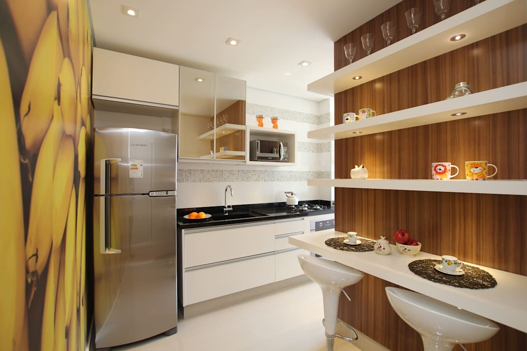 Cocinas modernas de Pricila Dalzochio Arquitetura e Interiores Moderno