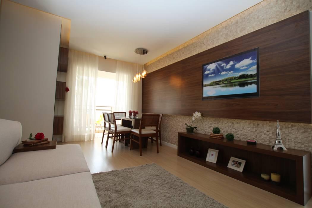 Salas modernas de Pricila Dalzochio Arquitetura e Interiores Moderno