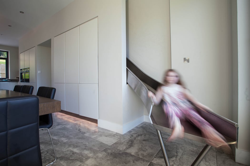 Modern fun house is children's favourite Des Ewing Residential Architects Modern kitchen