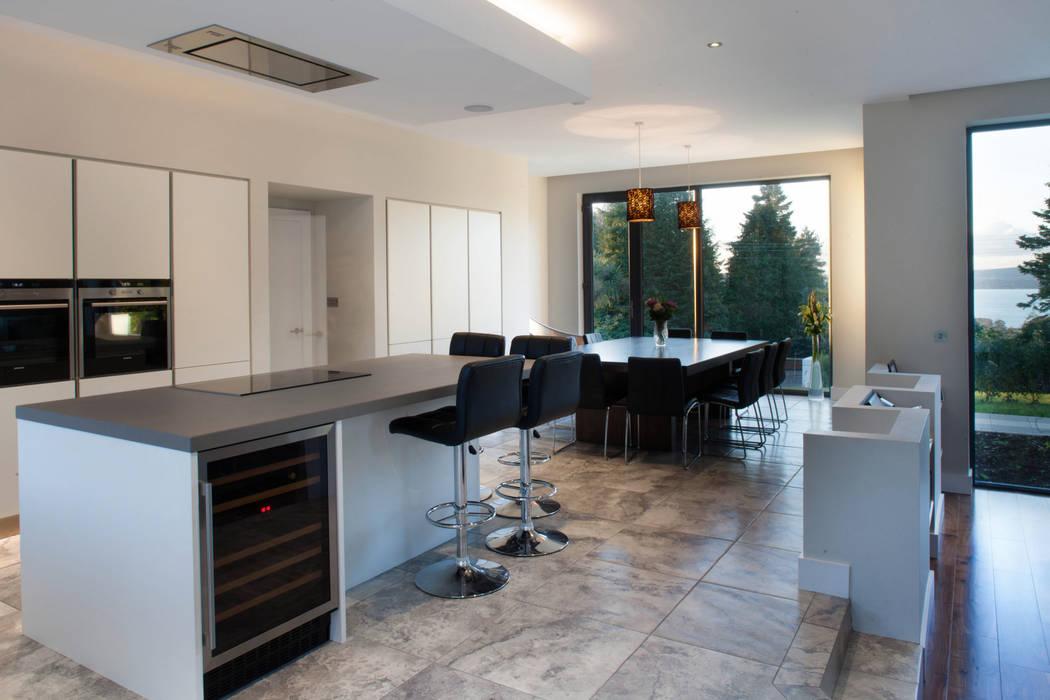 Modern fun house is children's favourite Des Ewing Residential Architects Modern Kitchen