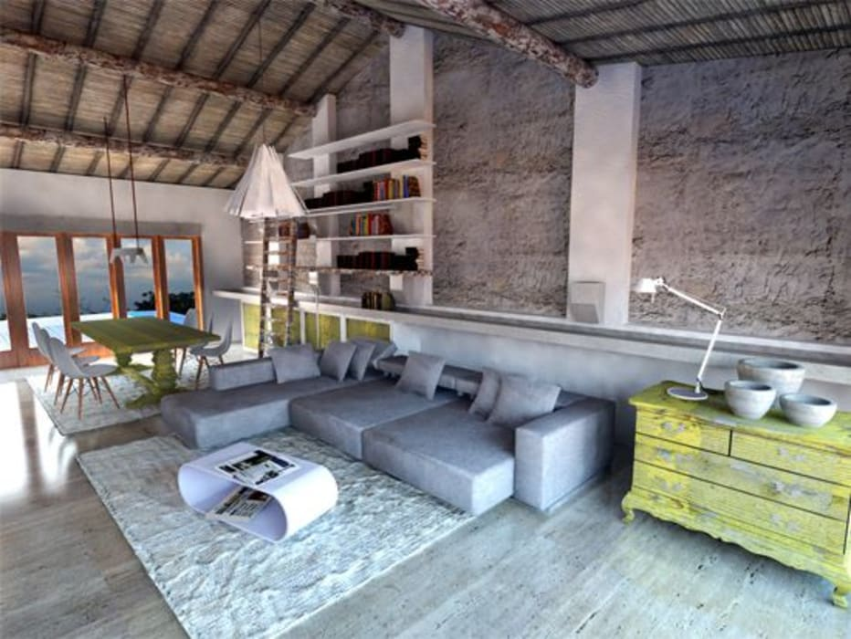 Country style living room by Grupo Norma Country