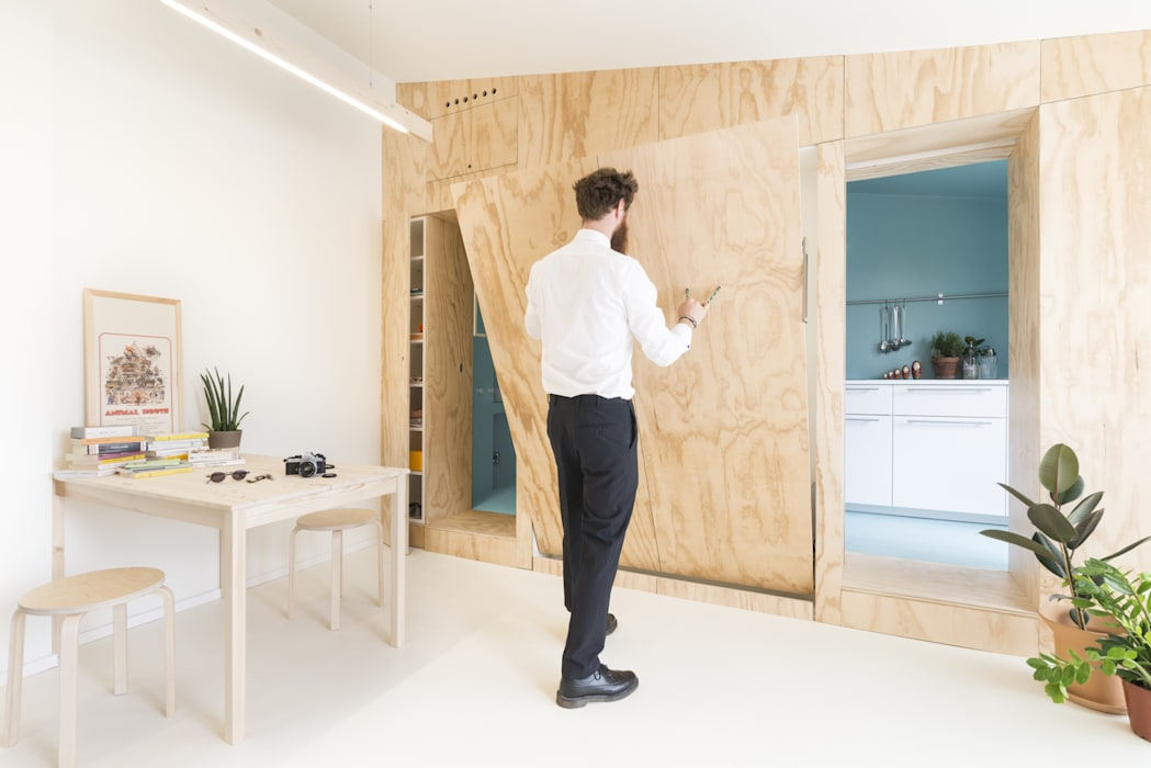 studio wok Спальня в стиле модерн