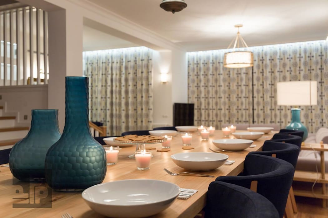 Eclectic style dining room by Pogotowie Projektowe Aleksandra Michalak Eclectic
