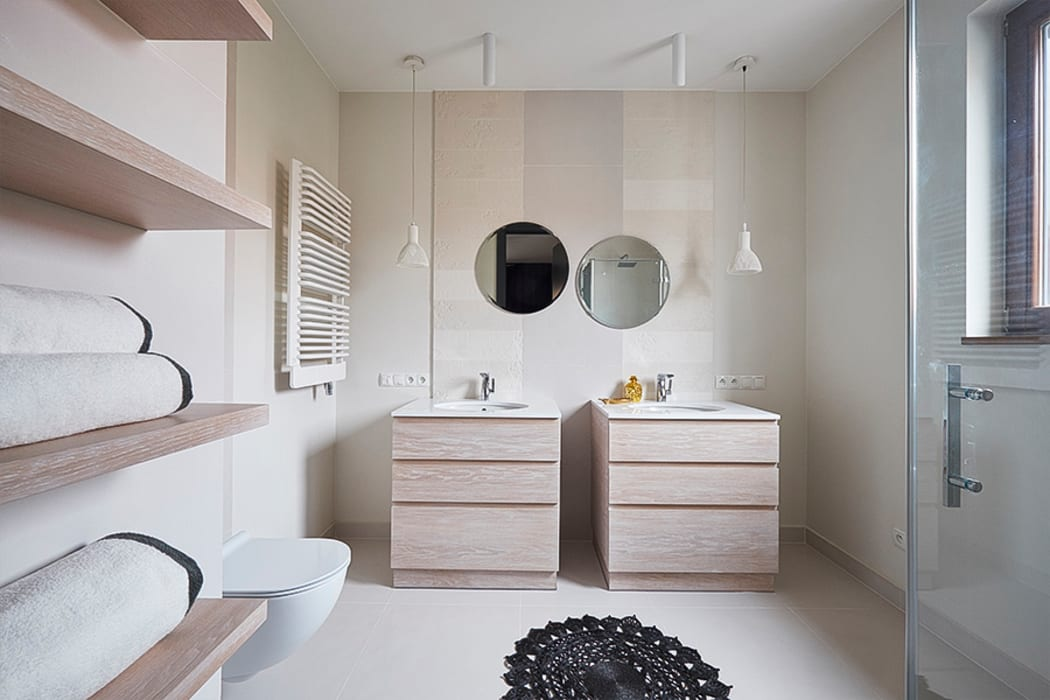 Scandinavian style bathroom by Pracownia Projektowa Hanna Kłyk Scandinavian
