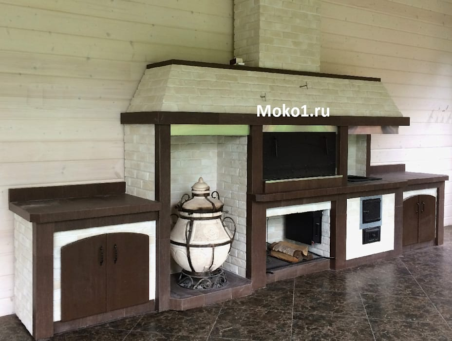 Полноценный барбекю комплекс:  в . Автор – Moko barbecue, Классический Железо / Сталь